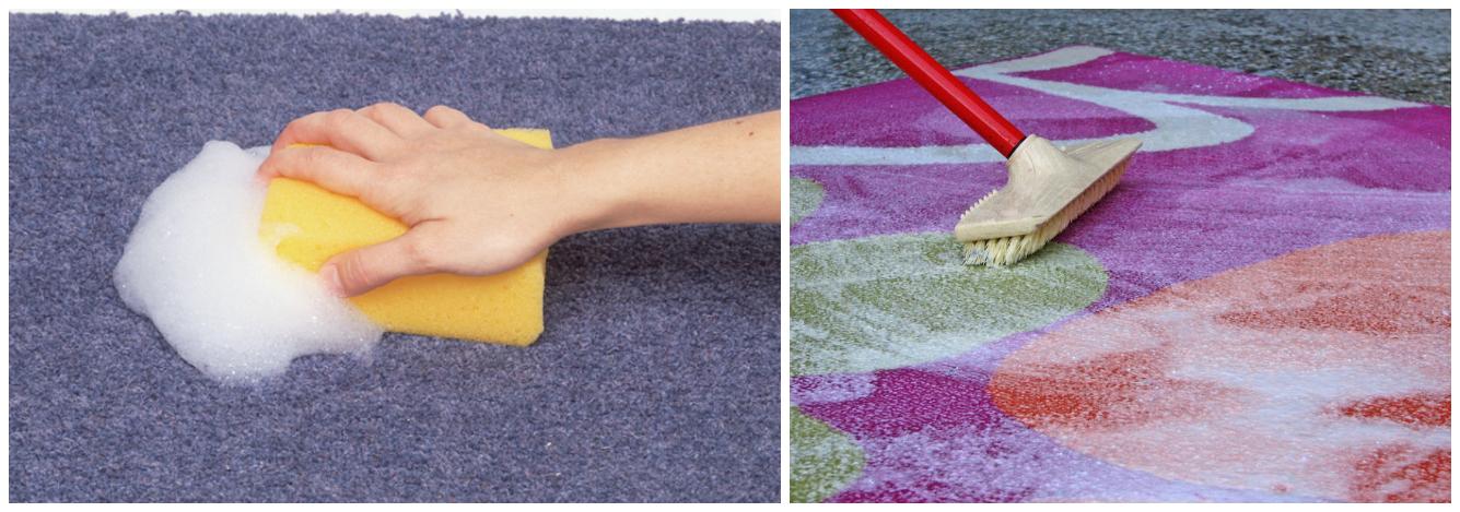 Как очистить светлый палас в домашних условиях от пятен фото