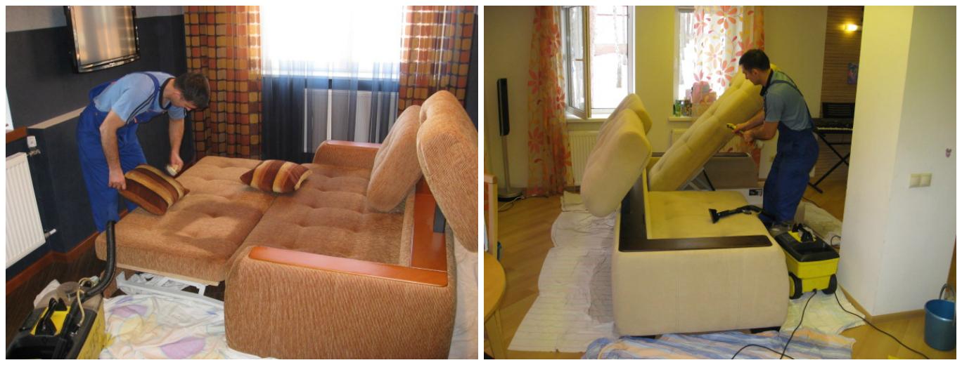 Как сделать чистку мягкой мебели 2